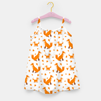Miniatur Cute Baby Fox Happy Mothers Day Gifts Wild Animal Lover Girl's dress, Live Heroes