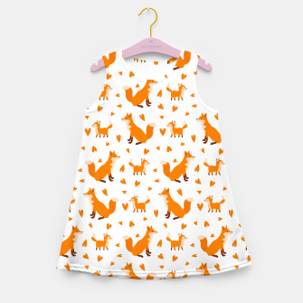 Miniatur Cute Baby Fox Happy Mothers Day Gifts Wild Animal Lover Girl's summer dress, Live Heroes