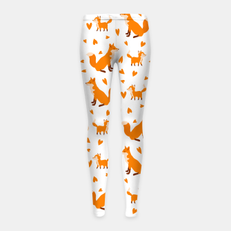 Miniatur Cute Baby Fox Happy Mothers Day Gifts Wild Animal Lover Girl's leggings, Live Heroes