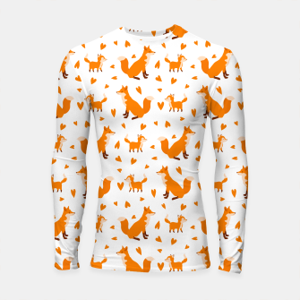 Miniatur Cute Baby Fox Happy Mothers Day Gifts Wild Animal Lover Longsleeve rashguard , Live Heroes