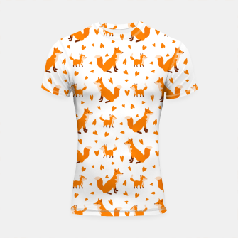 Thumbnail image of Cute Baby Fox Happy Mothers Day Gifts Wild Animal Lover Shortsleeve rashguard, Live Heroes