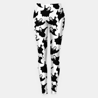 Scream Halloween Ghost Gifts Boo Scary Movies Horror Leggings thumbnail image