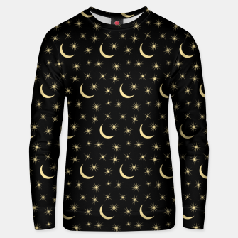 Thumbnail image of Half Moon Stars Universe Space Lover Gifts Astronomy Unisex sweater, Live Heroes