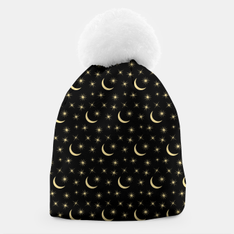 Thumbnail image of Half Moon Stars Universe Space Lover Gifts Astronomy Beanie, Live Heroes