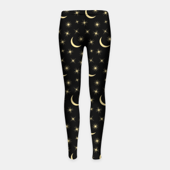 Thumbnail image of Half Moon Stars Universe Space Lover Gifts Astronomy Girl's leggings, Live Heroes