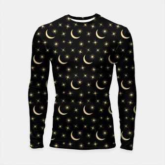 Thumbnail image of Half Moon Stars Universe Space Lover Gifts Astronomy Longsleeve rashguard , Live Heroes