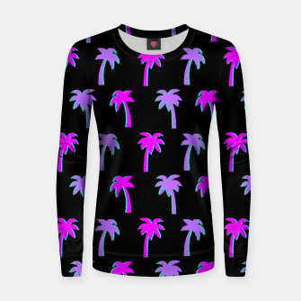 Thumbnail image of Retro Palm Tree Vaporwave Style Vintage Gifts Beach Lover Women sweater, Live Heroes