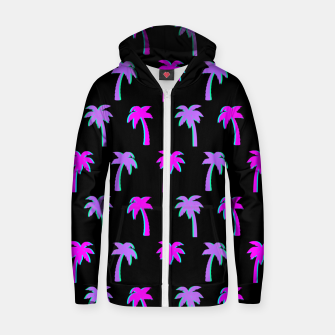 Thumbnail image of Retro Palm Tree Vaporwave Style Vintage Gifts Beach Lover Zip up hoodie, Live Heroes