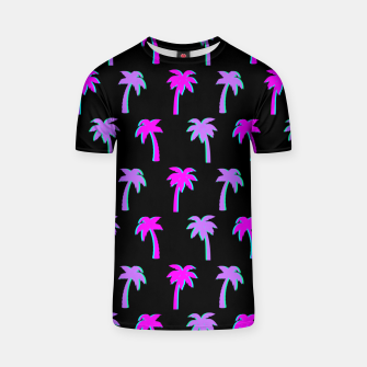 Thumbnail image of Retro Palm Tree Vaporwave Style Vintage Gifts Beach Lover T-shirt, Live Heroes