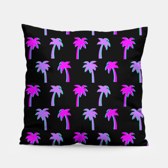 Thumbnail image of Retro Palm Tree Vaporwave Style Vintage Gifts Beach Lover Pillow, Live Heroes