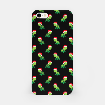 Thumbnail image of Cute Turtle Gift Sea Animal Merry Christmas Santa Claus Xmas iPhone Case, Live Heroes