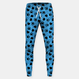 Thumbnail image of Paw Print Gifts Cat Lovers Cute Kitten Heart Animal Love Sweatpants, Live Heroes