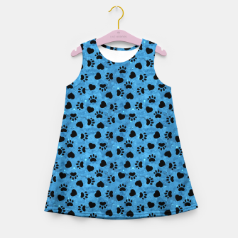 Thumbnail image of Paw Print Gifts Cat Lovers Cute Kitten Heart Animal Love Girl's summer dress, Live Heroes