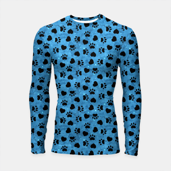 Thumbnail image of Paw Print Gifts Cat Lovers Cute Kitten Heart Animal Love Longsleeve rashguard , Live Heroes
