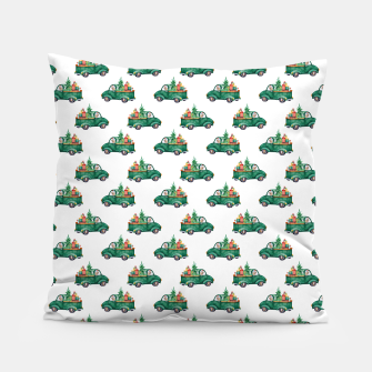 Thumbnail image of Cute Merry Christmas Xmas Gifts Watercolor Pattern Pillow, Live Heroes