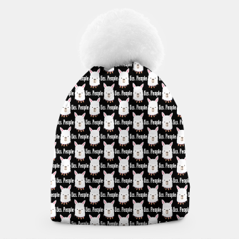 Thumbnail image of Ew People Funny Llama Gifts Alpaca Lover Sarcastic Humor Beanie, Live Heroes
