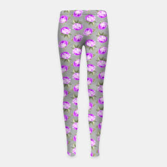Miniatur Roses Pattern Garden Lovers Gifts Gardener Floral Prints Girl's leggings, Live Heroes
