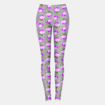 Roses Pattern Garden Lovers Gifts Gardener Floral Prints Leggings thumbnail image