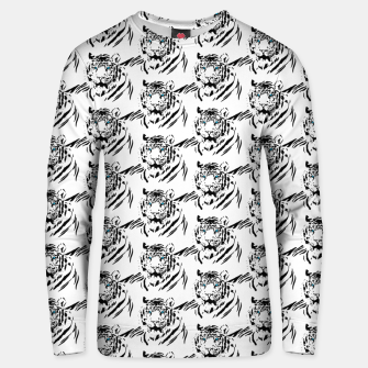 Thumbnail image of White Bengal Tiger Animal Lover Gifts Wild Feline Face Unisex sweater, Live Heroes