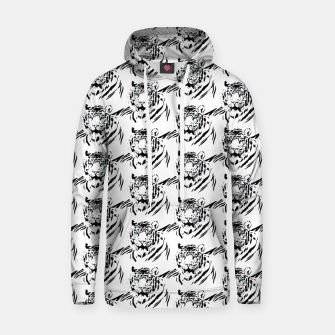 Thumbnail image of White Bengal Tiger Animal Lover Gifts Wild Feline Face Hoodie, Live Heroes