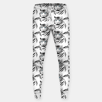 Miniatur White Bengal Tiger Animal Lover Gifts Wild Feline Face Sweatpants, Live Heroes
