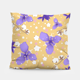 Thumbnail image of cotton girl (yellow) Pillow, Live Heroes