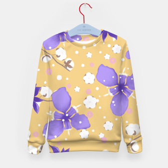 Thumbnail image of cotton girl (yellow) Kid's sweater, Live Heroes