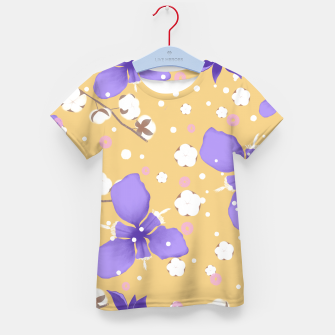 Thumbnail image of cotton girl (yellow) Kid's t-shirt, Live Heroes