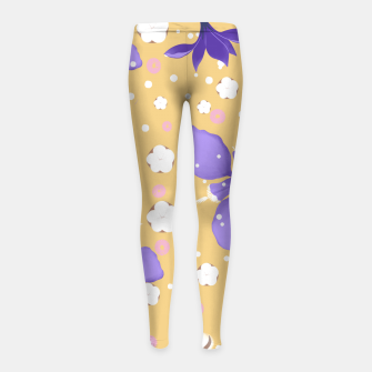 Thumbnail image of cotton girl (yellow) Girl's leggings, Live Heroes