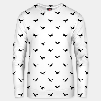 Thumbnail image of Birds Flying Motif Silhouette Print Pattern Unisex sweater, Live Heroes