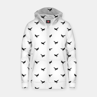 Miniatur Birds Flying Motif Silhouette Print Pattern Zip up hoodie, Live Heroes