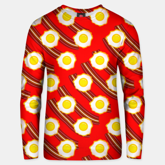 Miniatur Bacon And Eggs Pattern Unisex sweater, Live Heroes