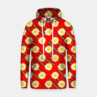 Miniatur Bacon And Eggs Pattern Hoodie, Live Heroes