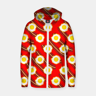Miniaturka Bacon And Eggs Pattern Zip up hoodie, Live Heroes
