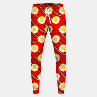 Miniatur Bacon And Eggs Pattern Sweatpants, Live Heroes