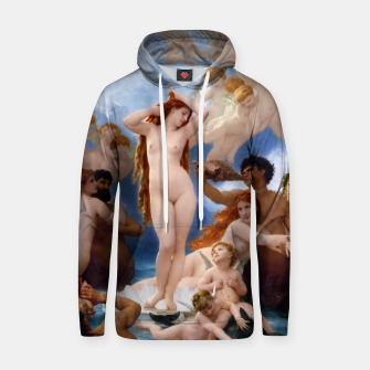 Thumbnail image of The Birth Of Venus by William-Adolphe Bouguereau Classical Old Masters Fine Art Reproduction Hoodie, Live Heroes
