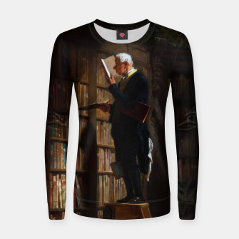 Thumbnail image of The Bookworm by Carl Spitzweg Classical Art Old Masters Reproduction Women sweater, Live Heroes