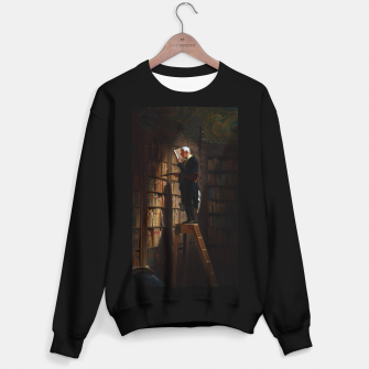 Thumbnail image of The Bookworm by Carl Spitzweg Classical Art Old Masters Reproduction Sweater regular, Live Heroes