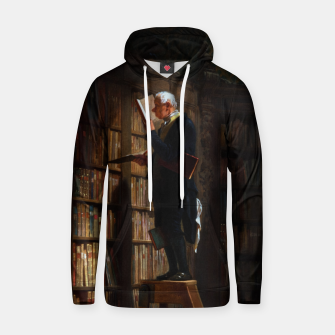 Thumbnail image of The Bookworm by Carl Spitzweg Classical Art Old Masters Reproduction Hoodie, Live Heroes