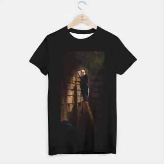 Thumbnail image of The Bookworm by Carl Spitzweg Classical Art Old Masters Reproduction T-shirt regular, Live Heroes