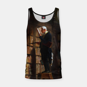 Thumbnail image of The Bookworm by Carl Spitzweg Classical Art Old Masters Reproduction Tank Top, Live Heroes