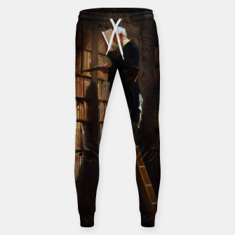 Thumbnail image of The Bookworm by Carl Spitzweg Classical Art Old Masters Reproduction Sweatpants, Live Heroes