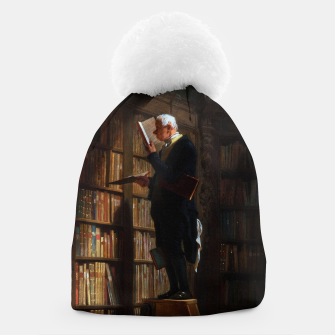 Thumbnail image of The Bookworm by Carl Spitzweg Classical Art Old Masters Reproduction Beanie, Live Heroes