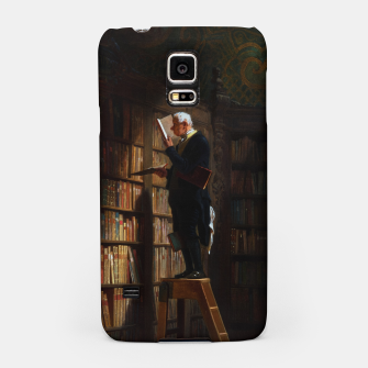 Thumbnail image of The Bookworm by Carl Spitzweg Classical Art Old Masters Reproduction Samsung Case, Live Heroes