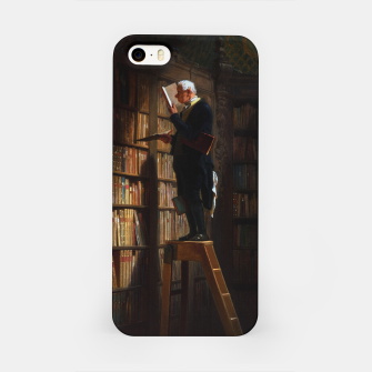 Thumbnail image of The Bookworm by Carl Spitzweg Classical Art Old Masters Reproduction iPhone Case, Live Heroes