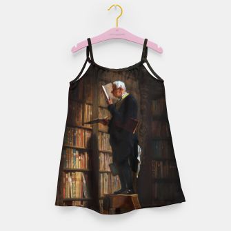Miniaturka The Bookworm by Carl Spitzweg Classical Art Old Masters Reproduction Girl's dress, Live Heroes
