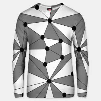 Miniatur Abstract geometric pattern - gray and white. Unisex sweater, Live Heroes