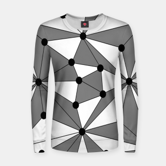 Miniatur Abstract geometric pattern - gray and white. Women sweater, Live Heroes