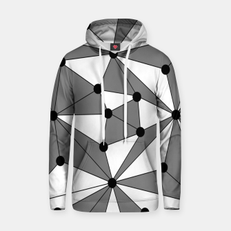 Miniatur Abstract geometric pattern - gray and white. Hoodie, Live Heroes
