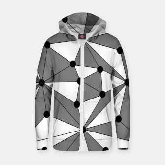 Miniatur Abstract geometric pattern - gray and white. Zip up hoodie, Live Heroes